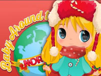 Baby around the Northpole