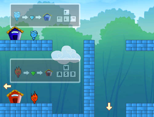 Fireboy And Watergirl Go Home Game Play Online For Free Kibagames