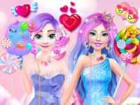 Ellie and Eliza in Candyland