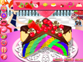 Regenbogen Clown Torte